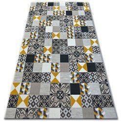 Covor Lisabona 27218/255 Pătrate Superficial galben lisbon portugal stil