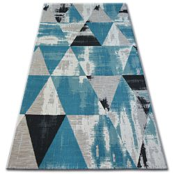 Covor Lisabona 27216/754 Triunghiuri turcoaz