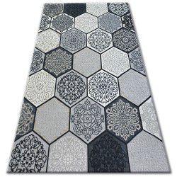 Covor Lisabona 27212/356 Hexagon Fagure de miere gri
