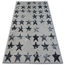 Covor Lisabona 27219/956 Stele Stea negru