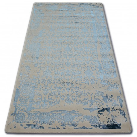 Covor acril Manyas 0920 fildeş si Albastru