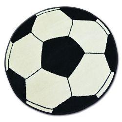 Covor BCF Base Fotbal crem si negru 3943
