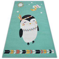 Covor Pastel 18401/043 - Pinguin verde