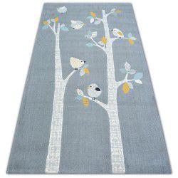 Covor Pastel 18405/072 - Păsări gri