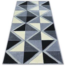 Covor BCF Base Trigonal 3974 Triunghiuri negru si gri