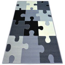 Covor BCF Flash Puzzle 3973 gri