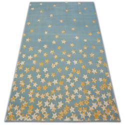 Covor Pastel 18408/032 - Stea turcoaz aur crem