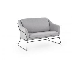Canapea 2 locuri Soft 2 XL gri deschis