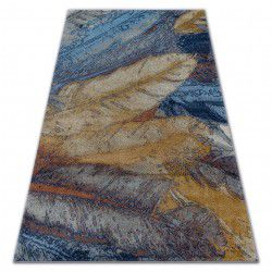 Covor Soft 6316 pene galben si albastru si muştar