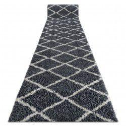Traversa Covor Berber Cross B5950 gri shaggy