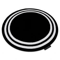 Covor HAMPTON cadru cerc negru
