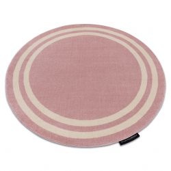 Covor HAMPTON cadru cerc roz