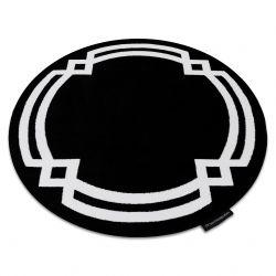 Covor HAMPTON Lux cerc negru
