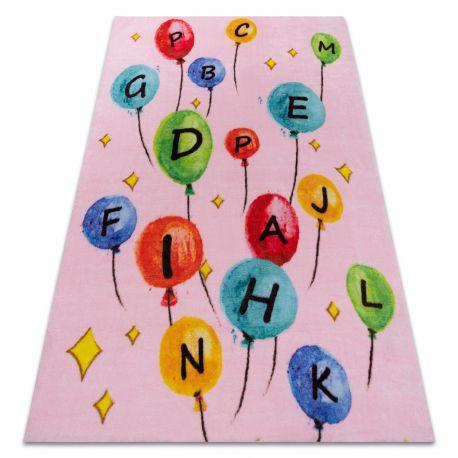 Covor PLAY baloane scrisori alfabet G3548-3 roz