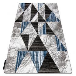 Covor ALTER Nano triunghiuri albastru