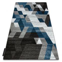 Covor INTERO TECHNIC 3D caro triunghiuri albastru