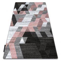 Covor INTERO TECHNIC 3D caro triunghiuri roz