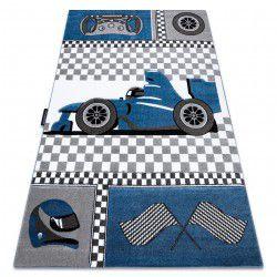 Covor PETIT RACE FORMULA 1 MAȘINĂ albastru