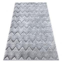 Covor Structural SIERRA G5010 țesute plate gri - Geometric, Zig zag