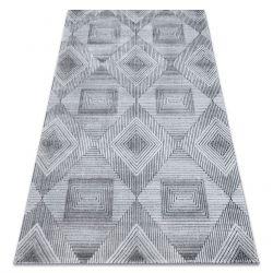 Covor Structural SIERRA G5011 țesute plate gri / negru - geometric, caro
