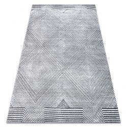 Covor Structural SIERRA G5012 țesute plate gri - geometric, caro