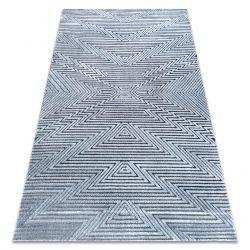Covor Structural SIERRA G5013 țesute plate albastru - Zig zag, etnic