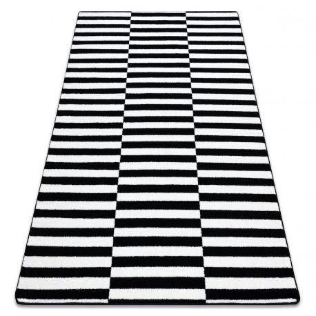 Covor Sketch - F132 alb și negru - Dungi