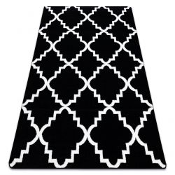 Covor Sketch - F343 negru și alb marocani Trellis