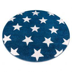 Covor Sketch rotund - FA68 albastru și alb - Stea Stele