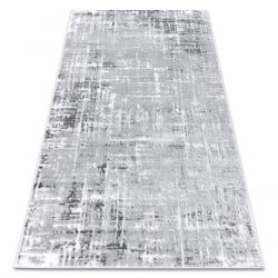 Covor modern MEFE 8722 Linii vintage - structural două niveluri de lână gri / alb