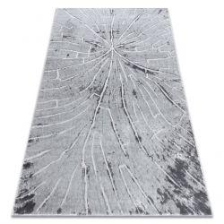 Covor modern MEFE 2784 Copac Lemn - structural două niveluri de lână gri