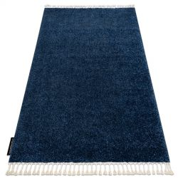 Covor Berber 9000 albastru inchis Franjuri shaggy