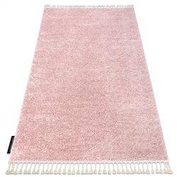 Covor Berber 9000 roz Franjuri shaggy