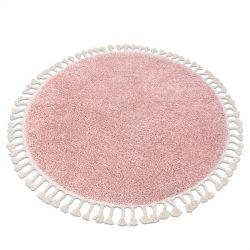 Covor Berber 9000 cerc roz Franjuri shaggy