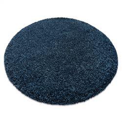 Covor modern de spalat ILDO 71181090 cerc albastru inchis