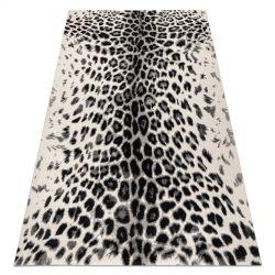 Covor GNAB 60638363 Leopard-imprimare modern alb / gri / negru
