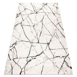 Covor GNAB 60639563 Marmură modern alb / negru