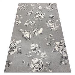 Covor GNAB 60642653 Flori trandafiri gri / alb