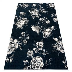 Covor GNAB 60642734 Flori trandafiri albastru inchis / alb