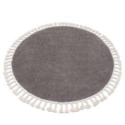 Covor Berber 9000 cerc maro Franjuri shaggy