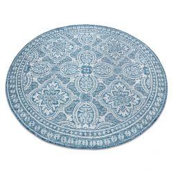 Covor sisal Loft 21193 Boho cerc fildeş argintiu albastru