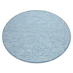 Covor sisal Loft 21198 Boho cerc fildeş argintiu albastru