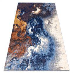 Covor Soft 8390 Abstracțiune Nor albastru si gri si cupru