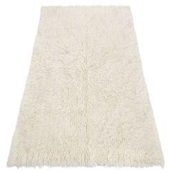 Flokati lână - Cuvertură de pat, carouri