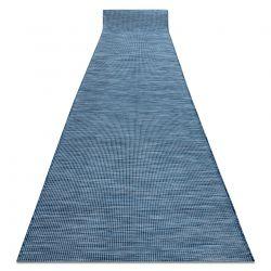 Din iuta, cu țesătură plată, covor PATIO Sisal cu model simplu 2778 albastru