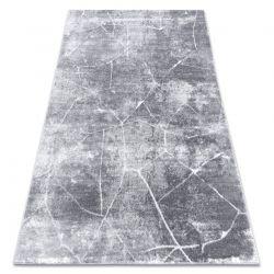 Covor modern MEFE 2783 Marmură - structural două niveluri de lână gri inchis