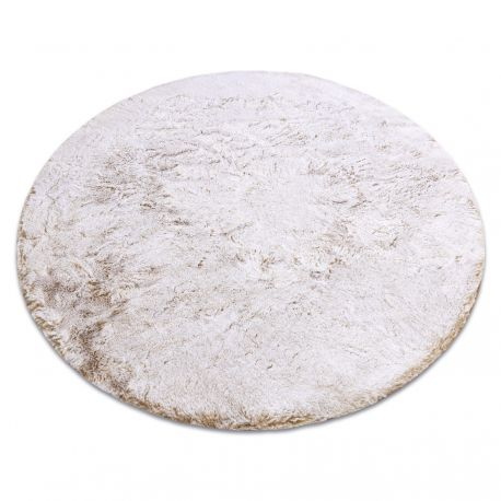 Covor modern de spălat LAPIN cerc shaggy, antiderapant bej / fildeș