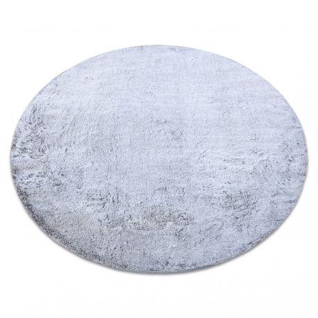 Covor modern de spălat LAPIN cerc shaggy, antiderapant gri / fildeș