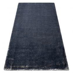 Covor modern de spălat LAPIN shaggy, antiderapant fildeș / negru