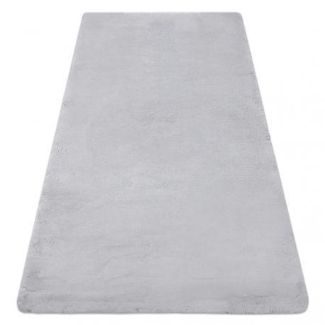 Covor modern de spălat TEDDY shaggy gri, antiderapant, foarte gros